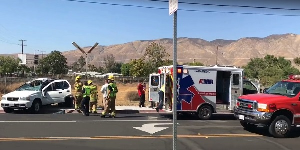 SAN JACINTO: Three injured in two-vehicle, rollover traffic accident